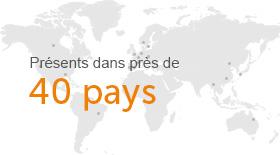 40 pays
